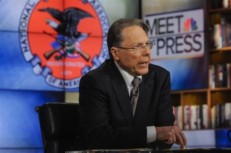 "Wayne LaPierre, CEO and Executive Vice President, National Rifle Association, appears on ""Meet the Press"" in Washington D.C. in this Decembe"