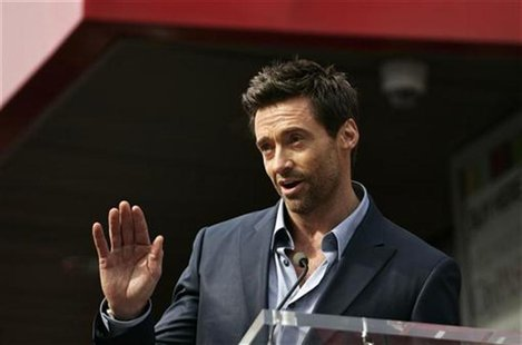 Actor Hugh Jackman speaks during ceremonies honoring him with a star on the Hollywood Walk of Fame in Hollywood, California, December 13, 20