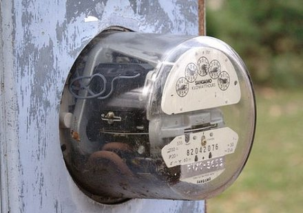 Old-style electric meter