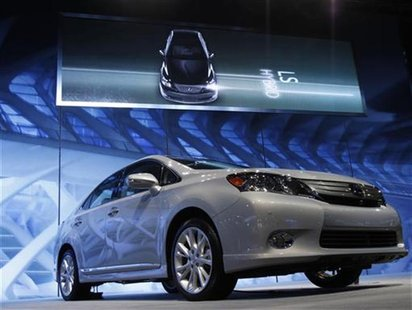 A Lexus HS 250h Hybrid is seen at the Chicago Auto Show February 10, 2010. REUTERS/John Gress