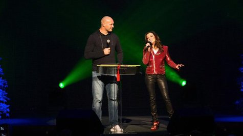 Image courtesy of Brian Urlacher, Martina McBride (RKN Photo) (via ABC News Radio)
