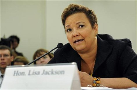 U.S. Environmental Protection Agency Administrator Lisa Jackson testifies at a hearing of the House Subcommittee on Oversight and Investigat
