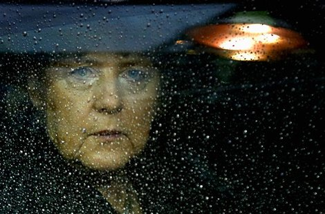 File photo of Germany's Chancellor Angela Merkel arriving at the European Union (EU) council headquarters for an EU leaders summit in Brusse