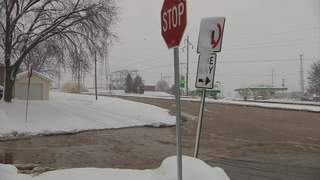 East side Green Bay water main break on Saturday December 29, 2012. (courtesy of FOX 11).