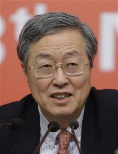 China's Central Bank Governor Zhou Xiaochuan answers a question during a news conference held on the sidelines of the18th National Congress