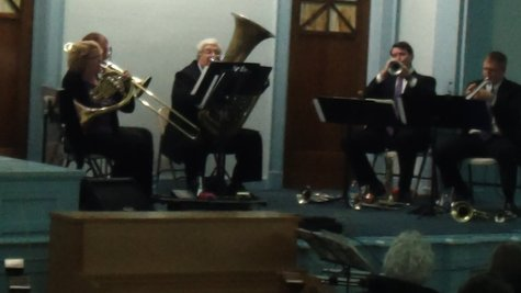 This brass quintet got a standing ovation when they were through.