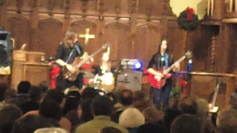 Rocking in a church nave.