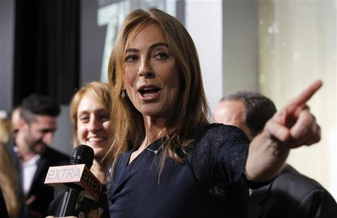 "Director and producer Kathryn Bigelow is interviewed at the premiere of ""Zero Dark Thirty"" at the Dolby theatre in Hollywood, California Dec"