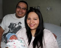 Maurice Goggleye, Christina Soman and new son Corey