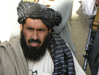 Pro-Taliban Pakistani tribal leader Maulvi Nazir Wazir, also known as Mullah Nazir, speaks during a news conference in Wana, the main town o