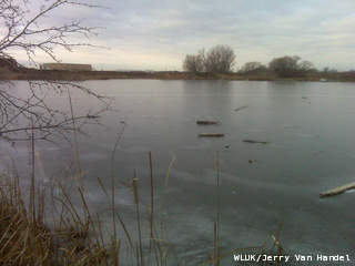 Ice on lake, Photo courtesy of Fox 11