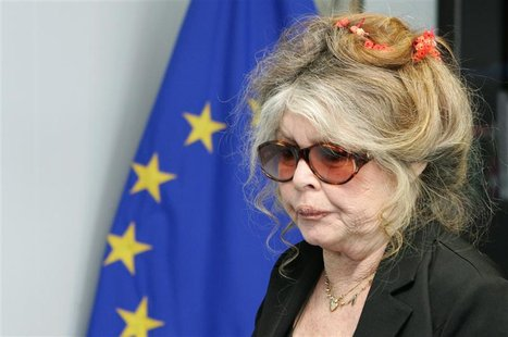 Brigitte Bardot the former French film star turned animal rights activist arrives at the European Commission headquarters in Brussels June 9