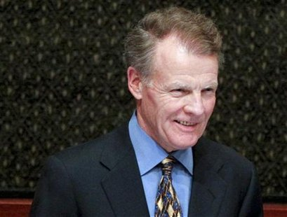 Michael Madigan, speaker of the Illinois Representatives, listens to the State of the State address in the House Chambers of the Illinois St