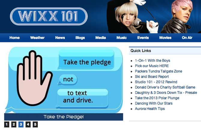 Go to wixx.com and look for this on the home page, then click it