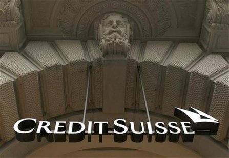 A logo of Swiss bank Credit Suisse is pictured at the company's headquarters in Zurich in this February 3, 2010 file photograph. REUTERS/Arn