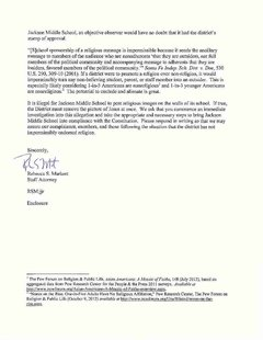 Freedom From Religion letter, page 2
