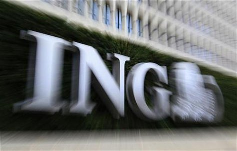 The logo of ING bank is seen at the entrance of the group's Brussels' main office November 7, 2012. REUTERS/Yves Herman