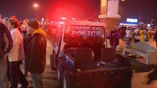 Green Bay police at Lambeau Field in Green Bay on Saturday, January 5, 2013. (courtesy of FOX 11).