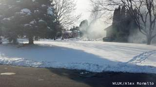 Firefighters respond to a house fire on West Parkridge Ave. in Grand Chute, Monday, January 7, 2013. (courtesy of FOX 11).