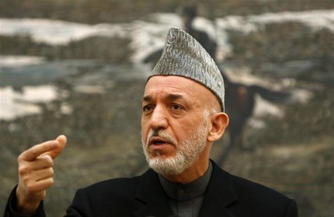 Afghan President Hamid Karzai speaks during a news conference in Kabul December 8, 2012. REUTERS/Mohammad Ismail