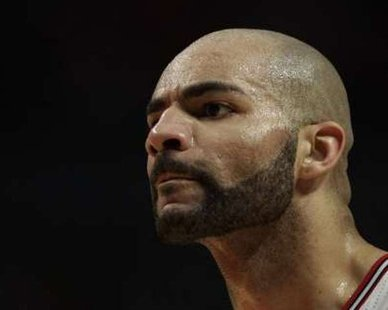 Chicago Bulls forward Carlos Boozer  REUTERS/John Gress