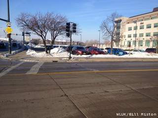Downtown Green Bay as seen on Tuesday, January 8, 2013. (courtesy of FOX 11).