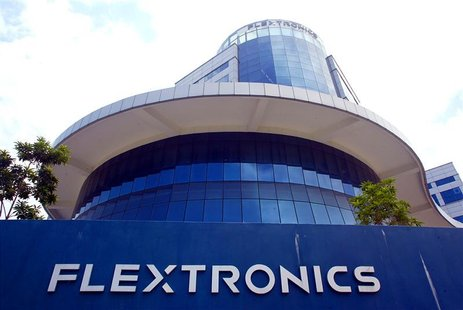 Exterior view of the Flextronics International Inc. headquarters for regional manufacturing in Singapore, September 26, 2003. REUTERS/Thomas
