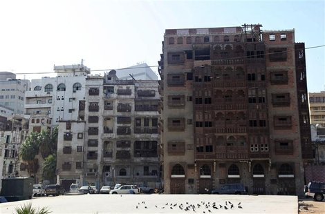 A general view shows historical buildings in Jeddah's historic district January 1,2013. In the heart of Saudi Arabia's sprawling Red Sea por