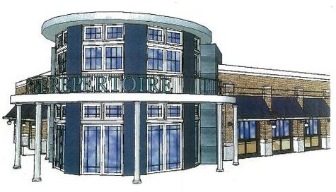 Artist rendering of the Repetoire, which will offer a cajun menu and live music. The developers say it will seat 300.