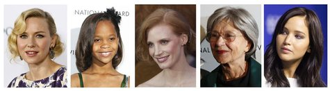 The nominees for best actress for the 85th Academy Awards are shown in this combination of file photographs after they were announced in Bev