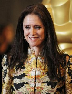 "Former director of the musical ""Spider-Man: Turn Off the Dark"" Julie Taymor poses at the Academy of Motion Picture Arts and Sciences' 2011 G"
