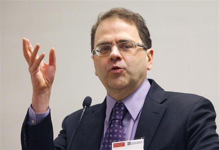 Minneapolis Federal Reserve Bank President Narayana Kocherlakota speaks at a macro-finance conference hosted by the Boston Federal Reserve B