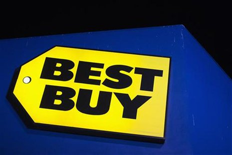 A Best Buy logo is seen during Thanksgiving Day in San Francisco, California, November 22, 2012. Black Friday, the day following the Thanksg