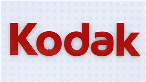 The Kodak logo is seen outside the Kodak factory in Rochester, New York, January 1, 2013. REUTERS/Carlo Allegri
