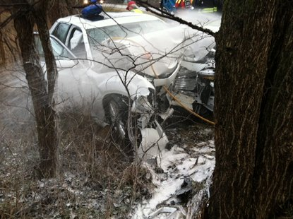 The vehicle was found crashed into a tree Friday morning in the 35000-block of M-43 in Waverly Township.