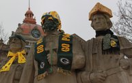 Packer Pep Rally in Downtown Green Bay 9