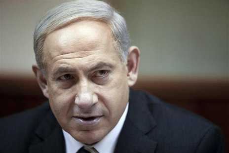 Israel's Prime Minister Benjamin Netanyahu attends the weekly cabinet meeting at his office in Jerusalem December 30, 2012. REUTERS/Abir Sul