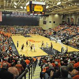 Basketball action at DeVos Fieldhouse (photo courtesy Hope College)