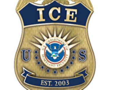 US Department of Immigration and Customs Enforcement Badge (image courtesy of ICE)