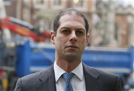 Former Credit Suisse trader Kareem Serageldin arrives at Westminster Magistrates Court in London January 14, 2013. REUTERS/Suzanne Plunkett