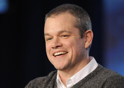 "Actor Matt Damon takes part in a panel discussion of HBO's ""Behind The Candelabra"" during the 2013 Winter Press Tour for the Television Crit"