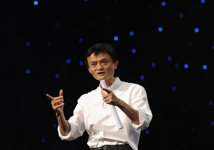 Chairman and Chief Executive of Alibaba Group Jack Ma delivers a speech at the 8th Netrepreneur Summit in Hangzhou, Zhejiang province Septem