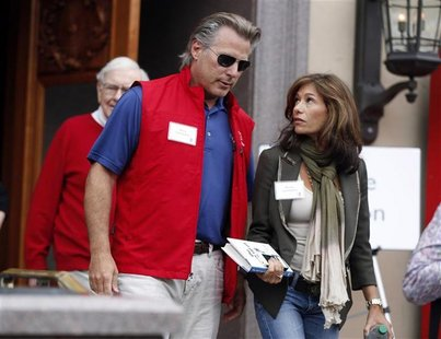 Former Yahoo interim CEO Ross Levinsohn and his wife Nicole Levinsohn attend the Allen & Co Media Conference in Sun Valley, Idaho July 13, 2