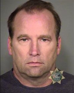Oregon based research consultant, John Kinnucan, is pictured in this booking photo provided by Multnomah County Jail to Reuters on February