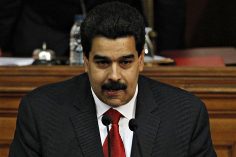 Venezuela's Vice President Nicolas Maduro delivers the state of nation address to national assembly in Caracas January 15, 2013. Maduro deli