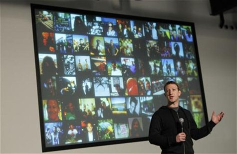Facebook Chief Executive Mark Zuckerberg speaks during a media event at the company's headquarters in Menlo Park, California January 15, 201