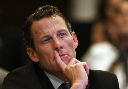 Lance Armstrong, founder of the LIVESTRONG foundation, takes part in the Clinton Global Initiative in New York, in this September 22, 2010 f