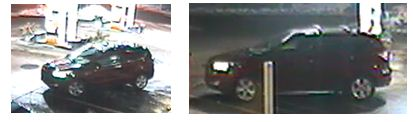 Suspect red SUV