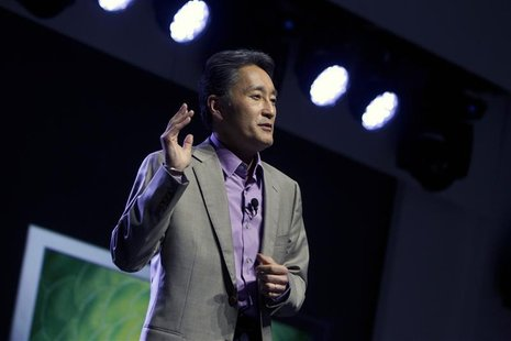 Kazuo Hirai, president and CEO of Sony Corporation, speaks during a Sony news conference at the Consumer Electronics Show (CES) in Las Vegas