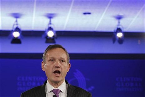 Barclays PLC Chief Executive Antony Jenkins speaks during the first day of the Clinton Global Initiative 2012 (CGI) in New York, September 2